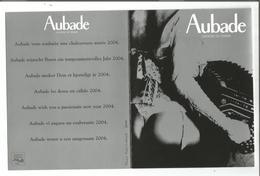 PHO.0509/ Carton + 5 Photos - Publicité Aubade Lingerie De Femme 2004 - Photography