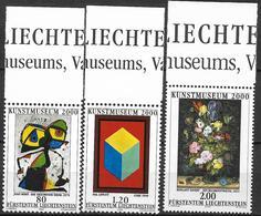 2000  Liechtenstein   Mi. 1245-7 **MNH   Eröffnung Des Kunstmuseums, Vaduz: Gemälde - Unused Stamps