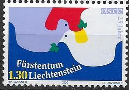 2000  Liechtenstein   Mi. 1248 **MNH   25 Jahre Organisation Für Sicherheit Und Zusammenarbeit In Europa (OSZE). - Unused Stamps