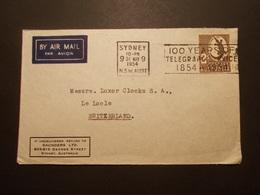 Marcophilie  Cachet Lettre Obliteration - Enveloppe AUSTRALIE Destination SUISSE - 1954 - (1879) - Postmark Collection