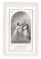 IMAGE  PIEUSE ( Canivet Dentelé, Vers 1880 ) / PROTECTION  AU  SEUIL  /  LE  CIEL  /  Edit. Ch. LETAILLE , Paris - Images Religieuses