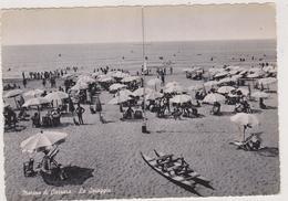 Italie,italia,marina Di Carrara,toscana,1956,péda Lo Ancien,passé Romain,détente,parasol,pl Age,mer - Carrara