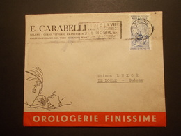 Marcophilie  Cachet Lettre Obliteration - Enveloppe ITALIE Destination SUISSE - Horlogerie - (1880) - Machine Stamps (ATM)