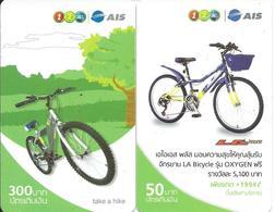 2 Cartes Prépayées Thailande Vélo Bike  Jeu   (D 412) - Thaïlande