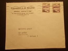 Marcophilie  Cachet Lettre Obliteration - Enveloppe MAROC Destination SUISSE (1884) - Maroc (1956-...)