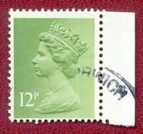 Great Britain GB 1971 - 1996 12p Green Machin Used - Machin-Ausgaben