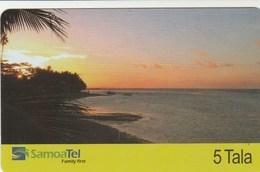 Samoa - Beach At Sunset - Samoa