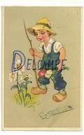 Heureux Anniversaire. Petit Jardinier. Marguerites, Tulipes. Coloprint Spécial 5144 - Anniversaire