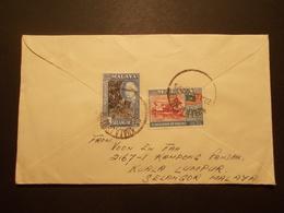 Marcophilie  Cachet Lettre Obliteration - Enveloppe MALAISIE Destination SUISSE - 1957 - (1887) - Malaysia (1964-...)