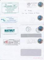 """M-765: FRANCE: Lot Avec 4 PAP """" La Poste Partenaire Officiel  (obl) - Entiers Postaux"""