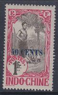 Indochine  N° 86 X Partie De Série : 40 C. Sur 1 F. Rouge-orange,  Trace De Charnière, Sinon TB - Neufs