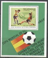 M1622 Sport Soccer Football WM Cup FIFA 1981 Nicaragua S/s MNH ** 4,5ME - Coppa Del Mondo