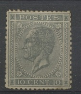 10c Gris N° 17  Neuf  Colle Partielle Cote  500,-E - 1865-1866 Profil Gauche