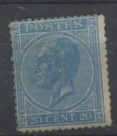 20c Bleu N° 18  Neuf Charnière Cote  900,-E - 1865-1866 Profil Gauche