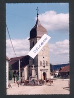 25 -Dommartin - L'Eglise, Le Monument Aux Morts Et Le Troupeau En 1998 - France