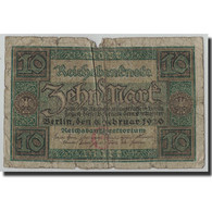Billet, Allemagne, 10 Mark, 1920, 1920-02-06, KM:67a, AB+ - [ 3] 1918-1933 : Weimar Republic