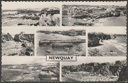 Multiview, Newquay, Cornwall, 1961 - Valentine's Postcard - Newquay