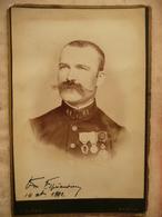 BK N°21 - CARTE PHOTO 61e REGIMENT ?- BASTIA - L. ALESSI - 1892 - Regiments