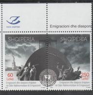 ALBANIA, 2017, MNH, IMMIGRATION DAY, STATUE OF LIBERTY, SHIPS, ALBANIAN DIASPORA,  2v - Schiffe