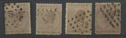 30c Brun N° 19  Ensemble De 4 Timbres Avec Nuances Coté 14,- Soit Cote  56,-E - 1865-1866 Profil Gauche