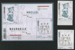2011 Francia, Antoine Bourdelle E Aristide Maillon, Serie Completa Nuova (**) - Francia