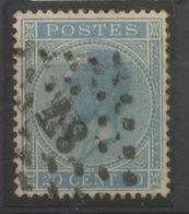 20c Bleu N° 18 Ø Super Bien Centré  Cote 7,50 E - 1865-1866 Profil Gauche