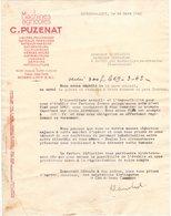 71 BOURBON LANCY COURRIER 1943 Machines Agricoles PUZENAT Lieuses Faucheuses  * A17  C/ DIGOIN - France