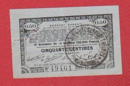 Emprunt Garanti / 50 Centimes 1915 / Série 1H - Assignats