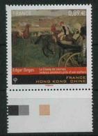2012 Francia, Amicizia Con Hong Kong Valore € 0,89 Con Corso Ippico Cavalli, Nuova (**) - Francia
