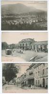 20386    LOT DE 3  CPA  De SAINT DIE  , Vue Générale Prise De St Martin , Place De La Gare , Quai Pastourelle (animée ) - Saint Die