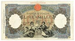1000 LIRE CAPRANESI REPUBBLICHEMARINARE REGINE MARE FASCIO 17/05/1943 BB- - [ 1] …-1946 : Regno