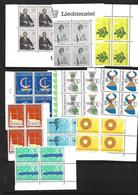 Liechtenstein 1966 Année Complète  Par Blocs De 4   N** MNH - Liechtenstein