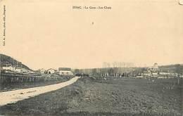 Ref 977- Dordogne - Issac - La Gare Ligne De Chemin De Fer - Les Chais  -/ Carte Décollée - Voir Description - - France