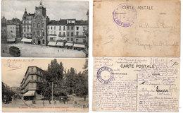BEZIERS - 2 CPA - L' Hotel De Ville - L' Avenue Gambetta - Cachets Militaires  (103684) - Beziers