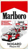 AUTOCOLLANT - MARLBORO - NOGARO - CHAMPIONNAT DE FRANCE DES VOITURES DE PRODUCTION - Autocollants