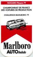 AUTOCOLLANT - MARLBORO - NOGARO PAQUES 79 - CHAMPIONNAT DE FRANCE DES VOITURES DE PRODUCTION - - Autocollants