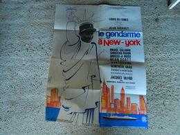 AFFICHE DE CINEMA LE GENDARME A NEW YORK AVEC LOUIS DE FUNES MICHEL GALABRU CHRISTIAN MARIN - Manifesti