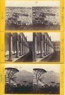 SUPERBE LOT 7 PHOTOS STEREO - ITALIE - ITALIA - NAPLES - NAPOLI - Stereoscopic
