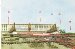 COREE DU NORD  R.P.D.C.  :  PYONGYANG  :  Vue D'ensemble Inauguration Statue De Bronze De Kim II Sung En 1972 - Corée Du Nord