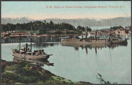 Naval Station, Esquimalt Harbor, Victoria, British Columbia, C.1910 - Valentine's Postcard - Victoria