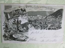 Gruss Aus Schramberg , Carte A La Lune 1899 - Schramberg