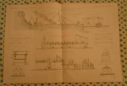 Plan De L'exploitation Et Fabrication Des Blocs Naturels Et Artificiels. Ports Et Jetées. 1866 - Public Works