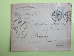VINS A LA COMMISSION / ULYSSE AIMEE & Cie à NÎMES (30) Enveloppe à Entête / Semeuse 15c Vert 1903 - Marcophilie (Lettres)
