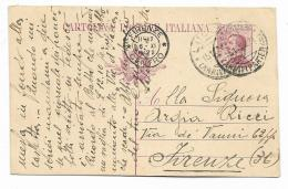 CART. POSTALE 1922 DA LUCCA A FIRENZE VIAGGIATA  FP - 1900-44 Vittorio Emanuele III
