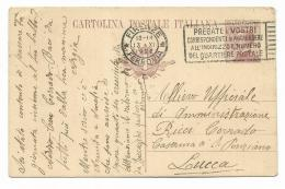 CART. POSTALE 1922 DA FIRENZE A LUCCA   VIAGGIATA  FP - 1900-44 Victor Emmanuel III
