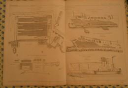 Plan De L'étude Sur Les Ports De Mer Artificiels Et La Fabrication Des Blocs De Béton. 1866 - Public Works
