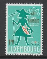 TIMBRE NEUF DU LUXEMBOURG - 16E CONGRES INTERNATIONAL DE L'OFFICE DES JARDINS OUVRIERS N° Y&T 707 - Agriculture
