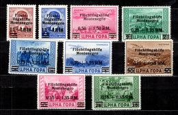 Montenegro Occupation Allemande Michel N° 20/28 Neufs ** MNH. TB. A Saisir! - Occupation 1938-45