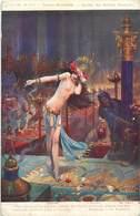 Ref 959- Arts - Tableaux -peinture - Peintre Gaston Bussiere -salomé   / Carte Décollée - Voir Description - - Tableaux