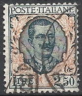 "Italia, 1926 Vittorio E. III 2.50 ""Tipo Floreale"" # Michel 243 - Yvert & T. 185 - Scott 90 - Sassone 203 - USATO - Usati"